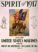"Vintage War Poster ""Spirit of 1917"" Join the US Marines"